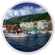 Bergen - Norway Round Beach Towel
