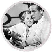 Bergman And Bogart 1942 Round Beach Towel