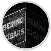 Bering Cigar Factory Round Beach Towel by David Lee Thompson
