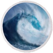 Bering Sea Round Beach Towel