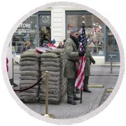 Berlin Checkpoint Charlie 1 Round Beach Towel