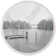 Berlin Lake Round Beach Towel