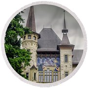 Berne Historical Museum Round Beach Towel by Michelle Meenawong