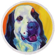 Bernese Mountain Dog - Zeke Round Beach Towel