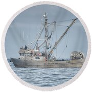 Round Beach Towel featuring the photograph Bernice C by Randy Hall