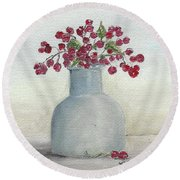 Berries Round Beach Towel