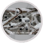 Berry Cold Round Beach Towel