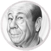 Bert Lahr Round Beach Towel by Greg Joens
