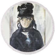 Round Beach Towel featuring the painting Berthe Morisot by Stan Tenney