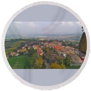 Bertinoro View -romagna Round Beach Towel