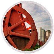 Bessemer Converter - Steel City - Pittsburgh Round Beach Towel