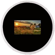 Round Beach Towel featuring the photograph Bessie by Mark Fuller