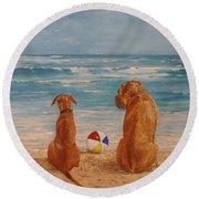 Best Friends Round Beach Towel