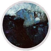 Best Kept Secret - Abstract Round Beach Towel by Michele Carter