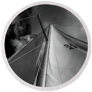 Best Perspective Black And White Round Beach Towel