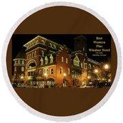 Best Western Plus Windsor Hotel - Christmas -2 Round Beach Towel