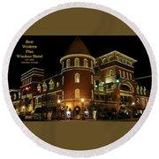 Best Western Plus Windsor Hotel - Christmas Round Beach Towel