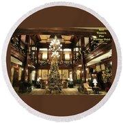 Best Western Plus Windsor Hotel Lobby - Christmas Round Beach Towel