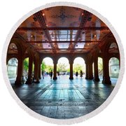 Bethesda Terrace Round Beach Towel