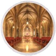 Bethlehem Chapel Washington National Cathedral Round Beach Towel by Shelley Neff