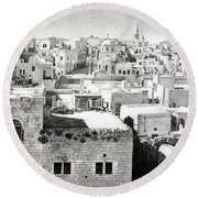 Bethlehem Old Town Round Beach Towel by Munir Alawi