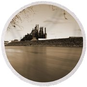 Bethlehem Steel Along The Lehigh Round Beach Towel