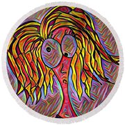 Betta Round Beach Towel