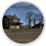 Round Beach Towel featuring the photograph Better Days by Robert Geary