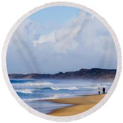 Betweem Storms Round Beach Towel
