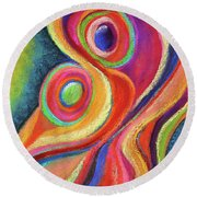 Between Mother And Child Round Beach Towel