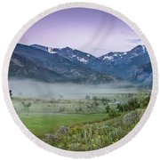 Between Night And Day Round Beach Towel