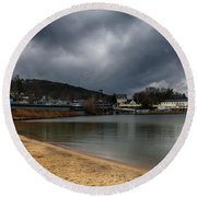 Between Raindrops Round Beach Towel