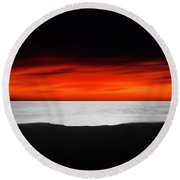 Between Red And Black Round Beach Towel