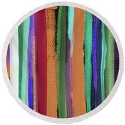 Between Seasons- Art By Linda Woods Round Beach Towel