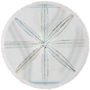 Round Beach Towel featuring the photograph Beveled Glass by Ellen Barron O'Reilly