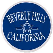 Beverly Hills California Design Round Beach Towel