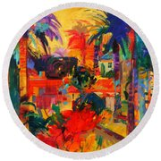 Beverly Hills Round Beach Towel
