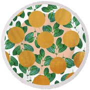 Beverly Round Beach Towel by Uma Gokhale
