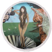 Beyonce - The Birth Of Venus Round Beach Towel