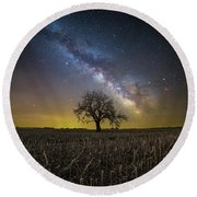 Round Beach Towel featuring the photograph Beyond by Aaron J Groen