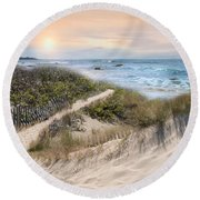 Beyond The Dunes Round Beach Towel