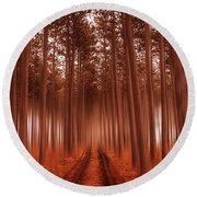 Beyond The Forest Round Beach Towel
