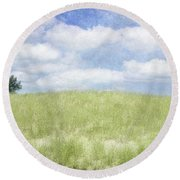 Beyond The Grassy Dune Round Beach Towel
