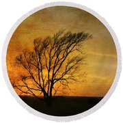 Round Beach Towel featuring the photograph Beyond The Horizon by Jan Amiss Photography
