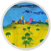 Beyond The Lemon Grove Round Beach Towel