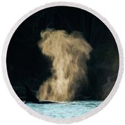 Round Beach Towel featuring the photograph Beyond The Mist - Wildlife Art by Jordan Blackstone