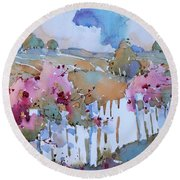 Beyond The Picket Fence Round Beach Towel
