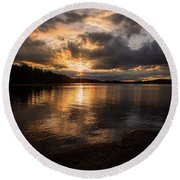 Round Beach Towel featuring the photograph Beyond Tomorrow by Rose-Marie Karlsen