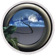 Beyond Walls Round Beach Towel