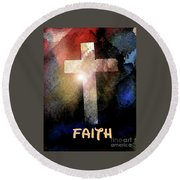 Biblical-faith Round Beach Towel